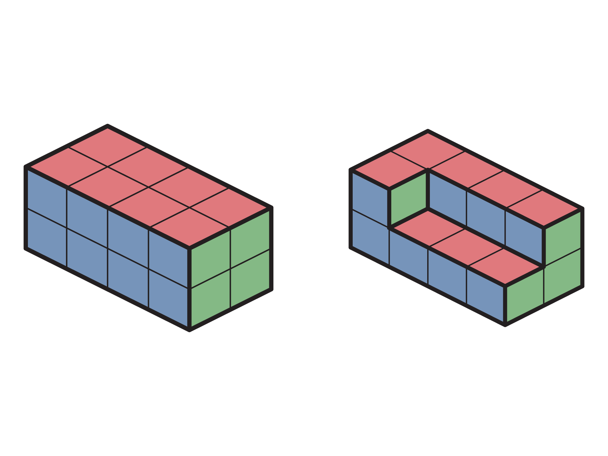 Students Should See That The Key Is Keeping The 2d Views The Same The  Larger A Volume They Start With, The More Cubes Can Be Removed