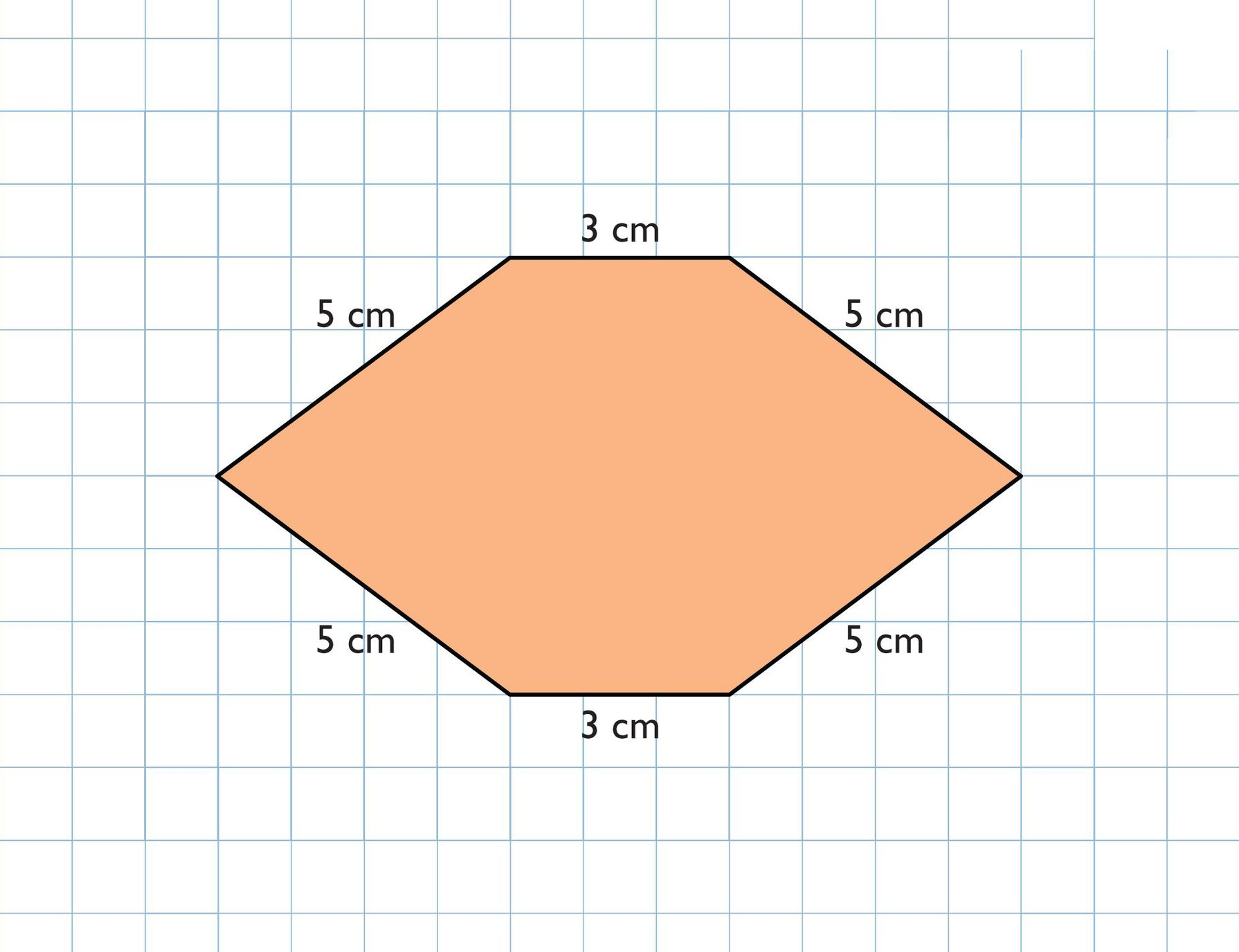 The Hexagonal Prism Has A Height Of 5 Cm