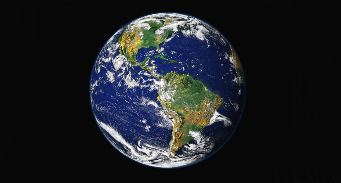 Photo depicts Earth from space.