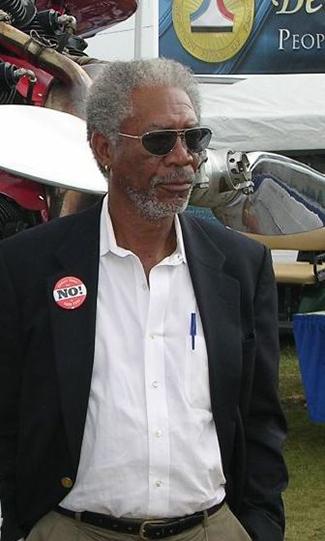 A photograph shows Morgan Freeman.