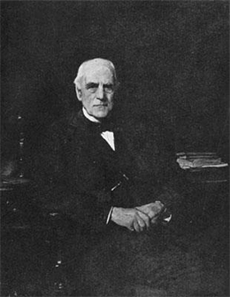 A photograph of Junius Spencer Morgan is shown.