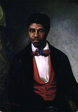 A portrait of Dred Scott is shown.