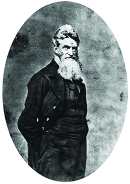 A photograph of John Brown is shown.