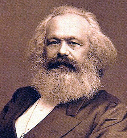 A photo of Karl Marx.