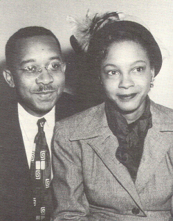Photo (b) shows the sociologists Kenneth and Mamie Clark.