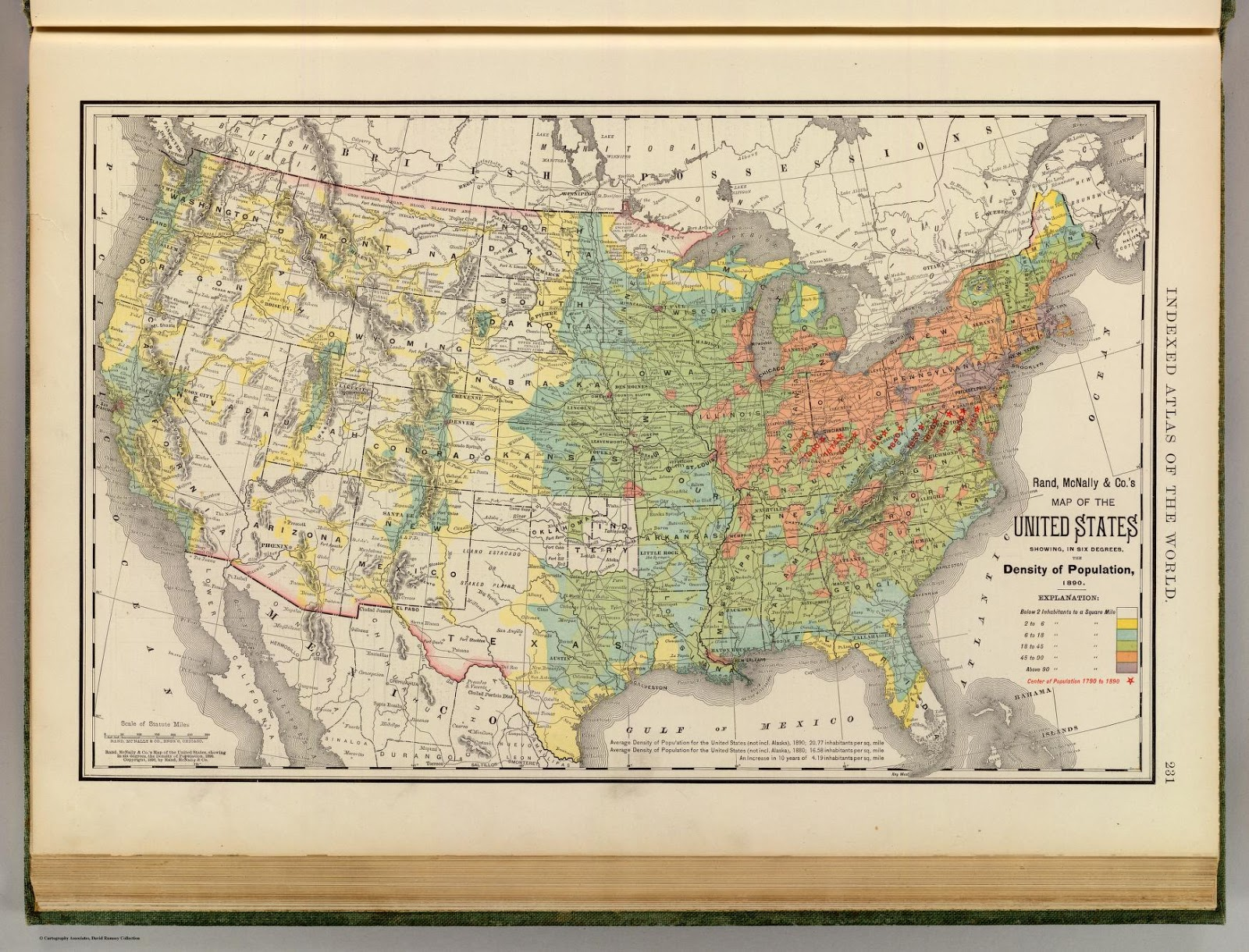 """""""United States Population Density 1890."""" By Rand McNally [CC BY-NC-SA 2.0], via David Rumsey Map Collection."""
