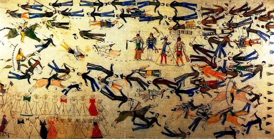 """Battle of Little Bighorn."" By Kicking Bear [Public domain], via Wikimedia Commons"