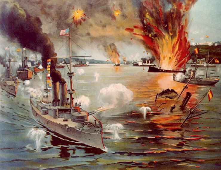 """""""Battle of Manila Bay,"""" [Public domain], via Wikimedia Commons"""