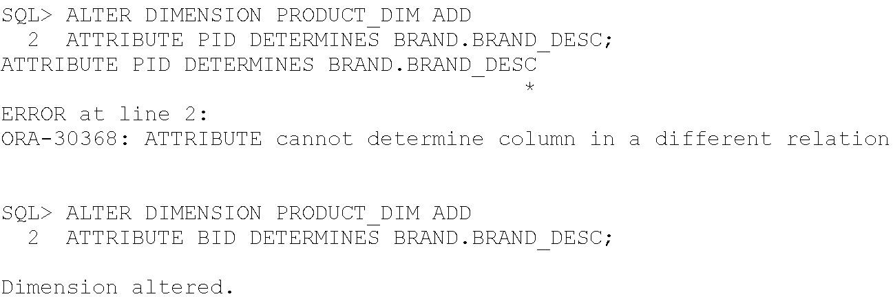 Data warehouse Design Using Oracle   Unit 1 Schema Design