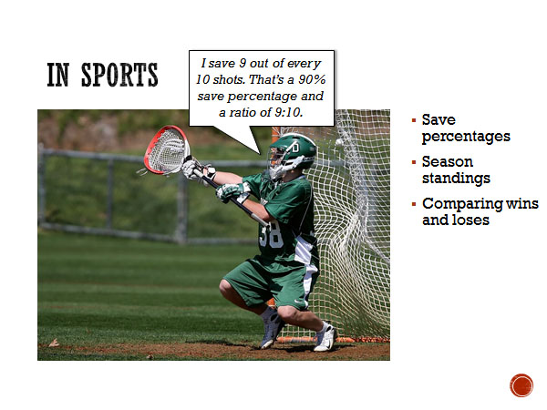 Examples of ratios used in sports