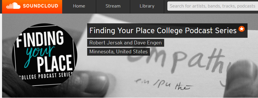 Finding your place banner