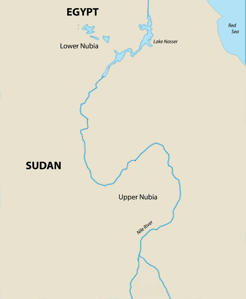 A map of ancient Nubia | Author: Mark Dingemanse and Corey Parson | Source: Wikimedia Commons | License: CC BY 2.5