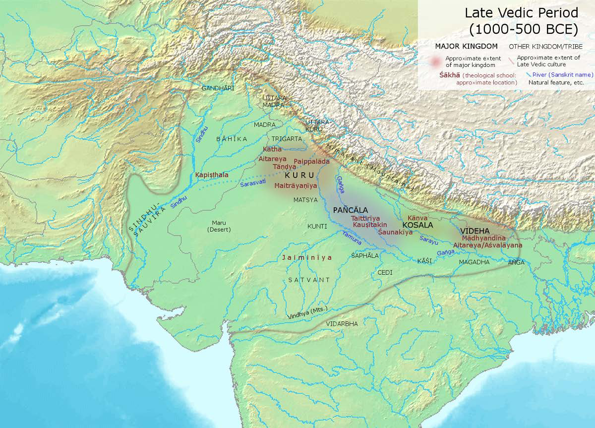 "The Late Vedic Age (1000-600 BCE) |  Author: User ""Avantiputra7"" 