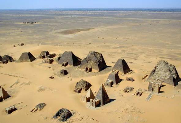 Pyramids at Meroe | Author: B. N. Chagny | Source: Wikimedia Commons | License: CC BY-SA 1.0