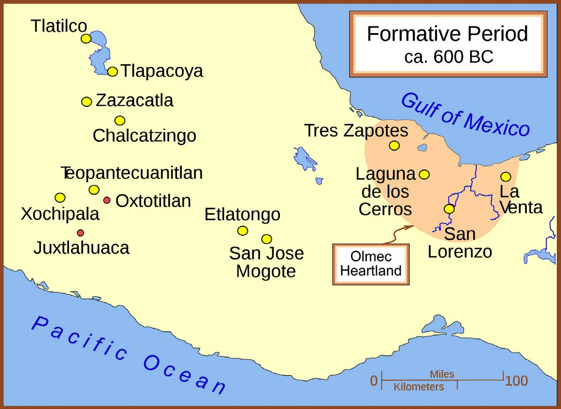 "Map of the Formative Era Sites, c. 600 BCE | Author: User ""Madman2001"" 