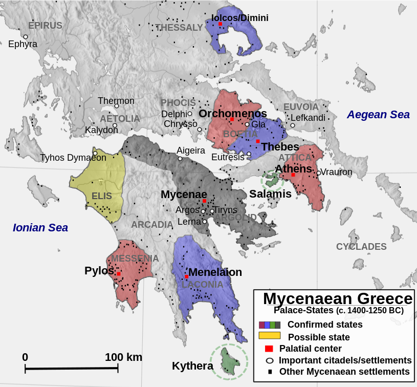 "Mycenaean Palace States | Author: user ""Alexikoua"" 