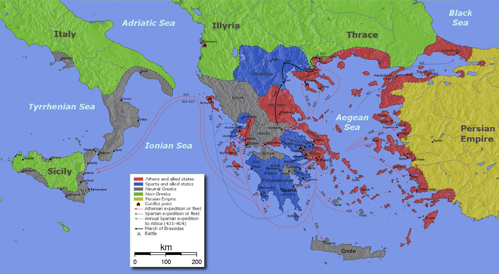 "Map of the Sicilian Expedition | Author: User ""Kenmyer"" 