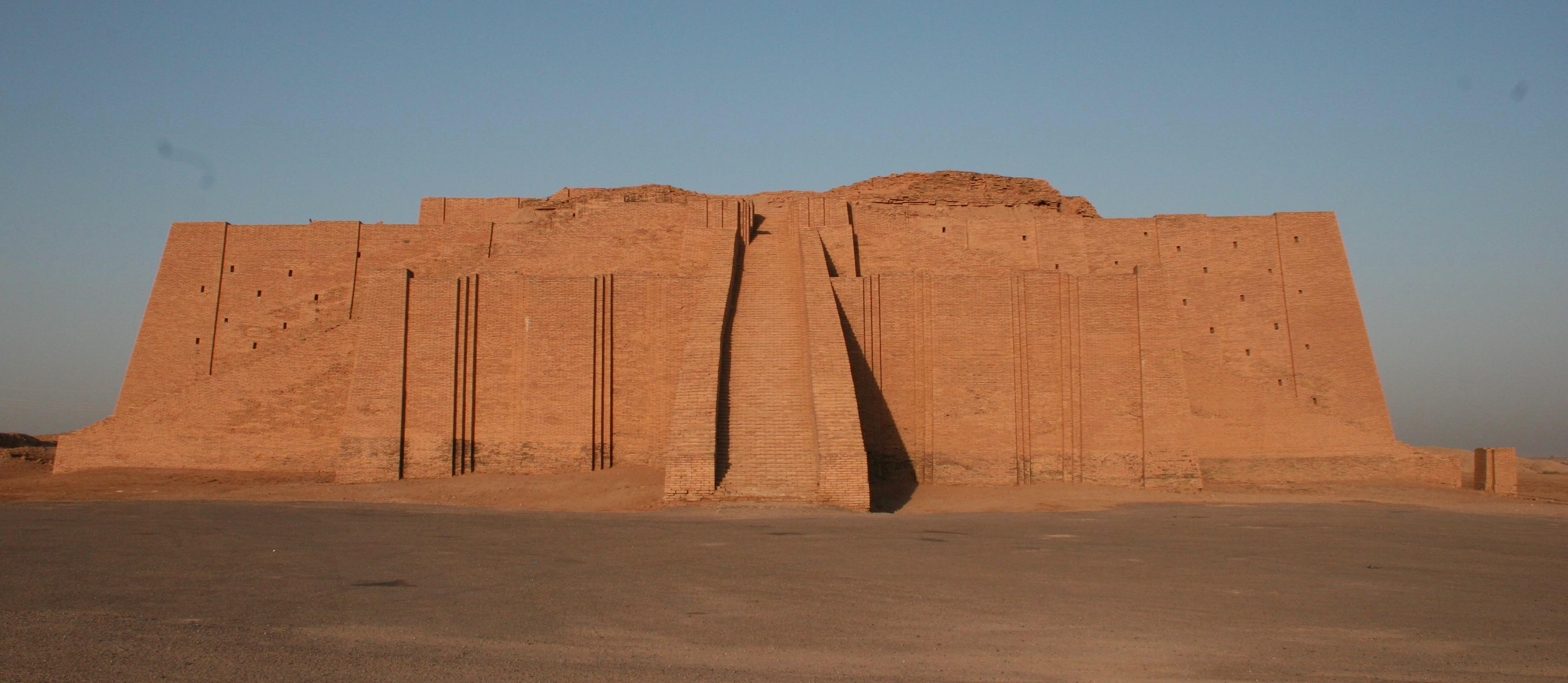 "The Great Ziggurat of Ur | Located in what is today the Dhi Qar Province of Iraq, Sumerians originally built the ziggurat in the Third Dynasty of Ur (c. 2100 BCE). It has been restored several times since, including fairly recently in the 1980s. | Author: User ""Tla2006"" 