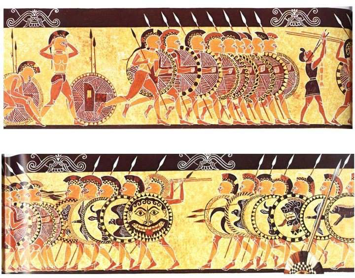 """Unrolled"" reconstructed image from the Chigi Vase 
