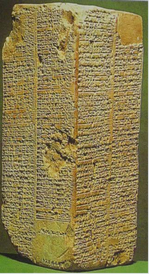 The Sumerian King List | Author: Taiwania Justo | Source: Wikimedia Commons | License: Public Domain