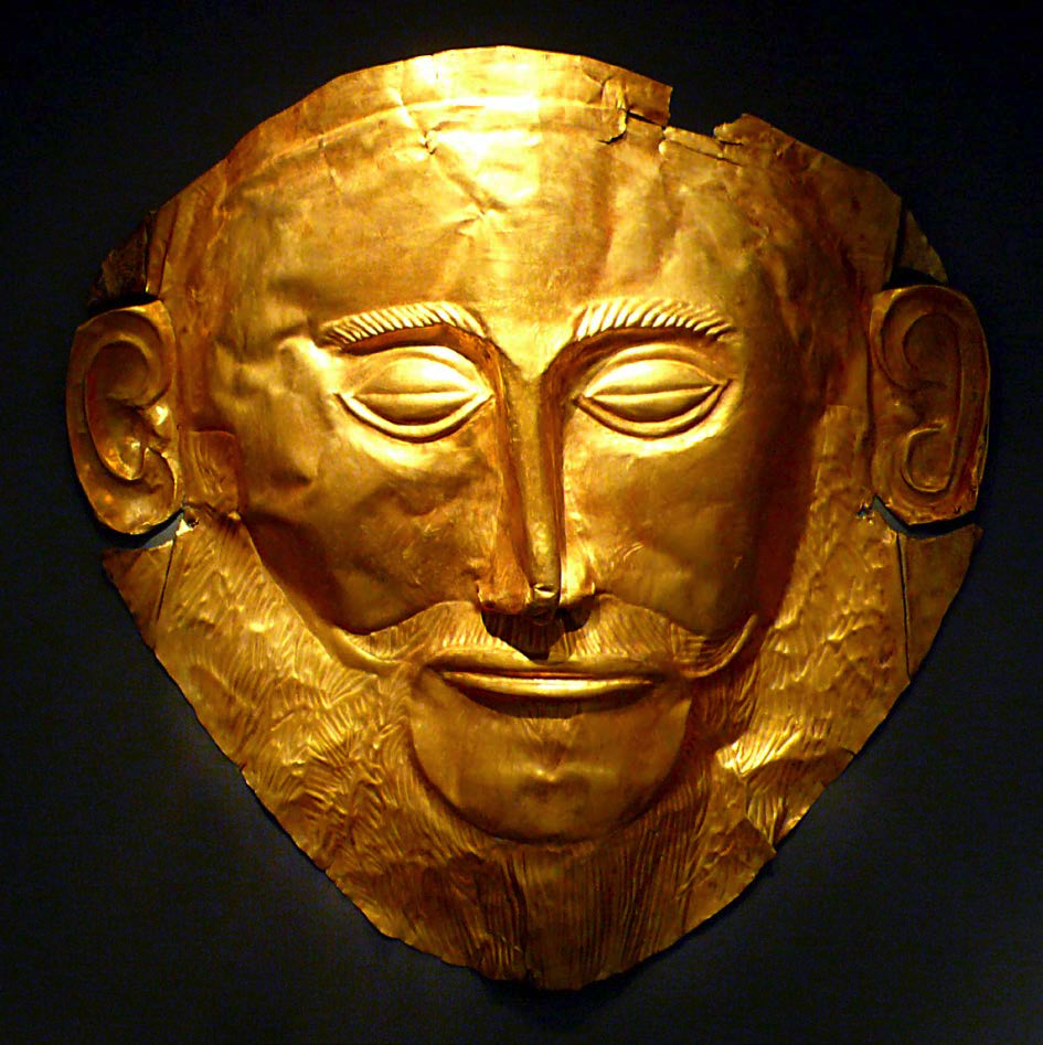 "Mask of Agamemnon, Mycenae |  Author: User ""Xuan Che"" 