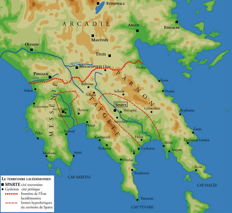 "Map of Sparta and the Environs | Author: User ""Marsyas"" 