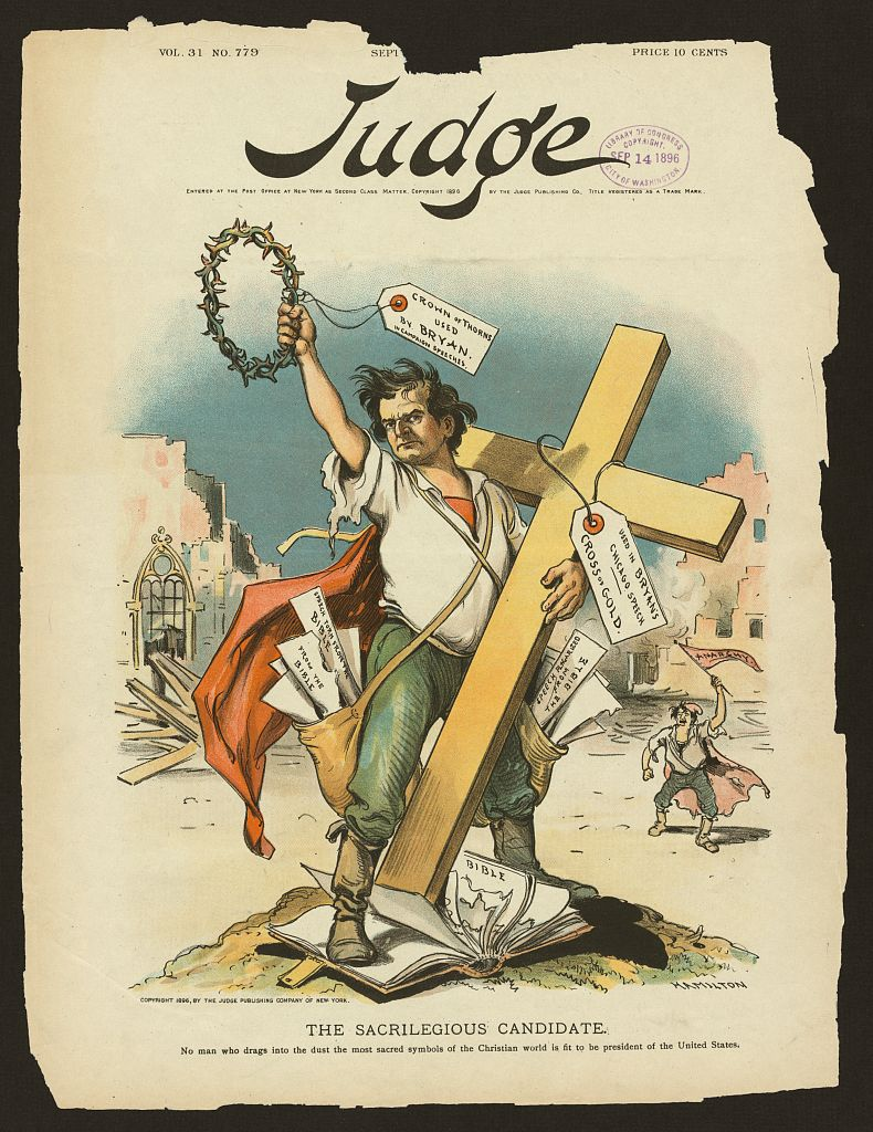 """The sacrilegious candidate - No man who drags into the dust the most sacred symbols of the Christian world is fit to be president of the United States.""