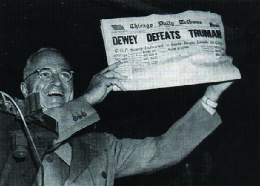 Harry S. Truman Displays an Inaccurate Newspaper Prediction