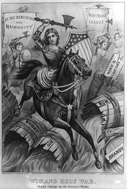 """""""Woman's Holy War. Grand Charge on the Enemy's Works."""" [Public Domain] via Wikimedia Commons."""