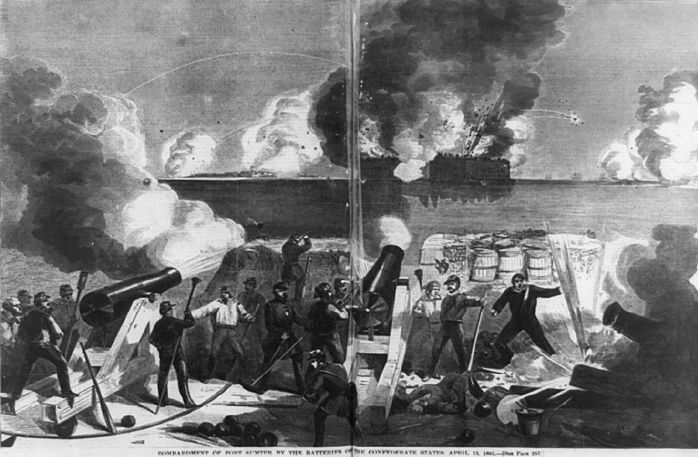 Attack on Fort Sumter [Public domain], via Wikimedia Commons
