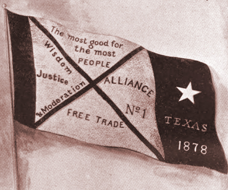 """Farmers' Alliance Banner."" Licensed under PD-US via Wikipedia"