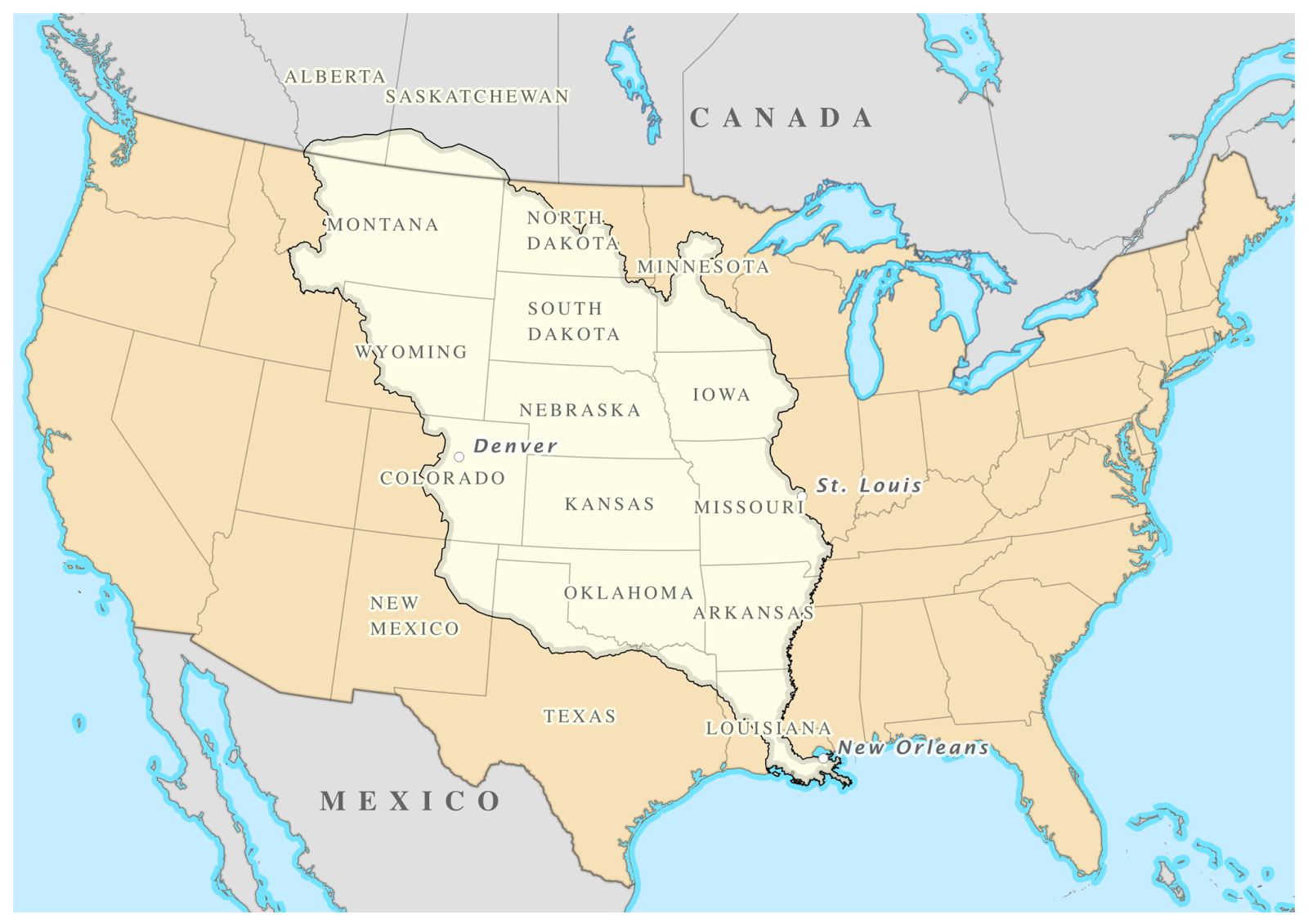 Territory of the Louisiana Purchase By William Morris [CC BY-SA 4.0 (http://creativecommons.org/licenses/by-sa/4.0)], via Wikimedia Commons
