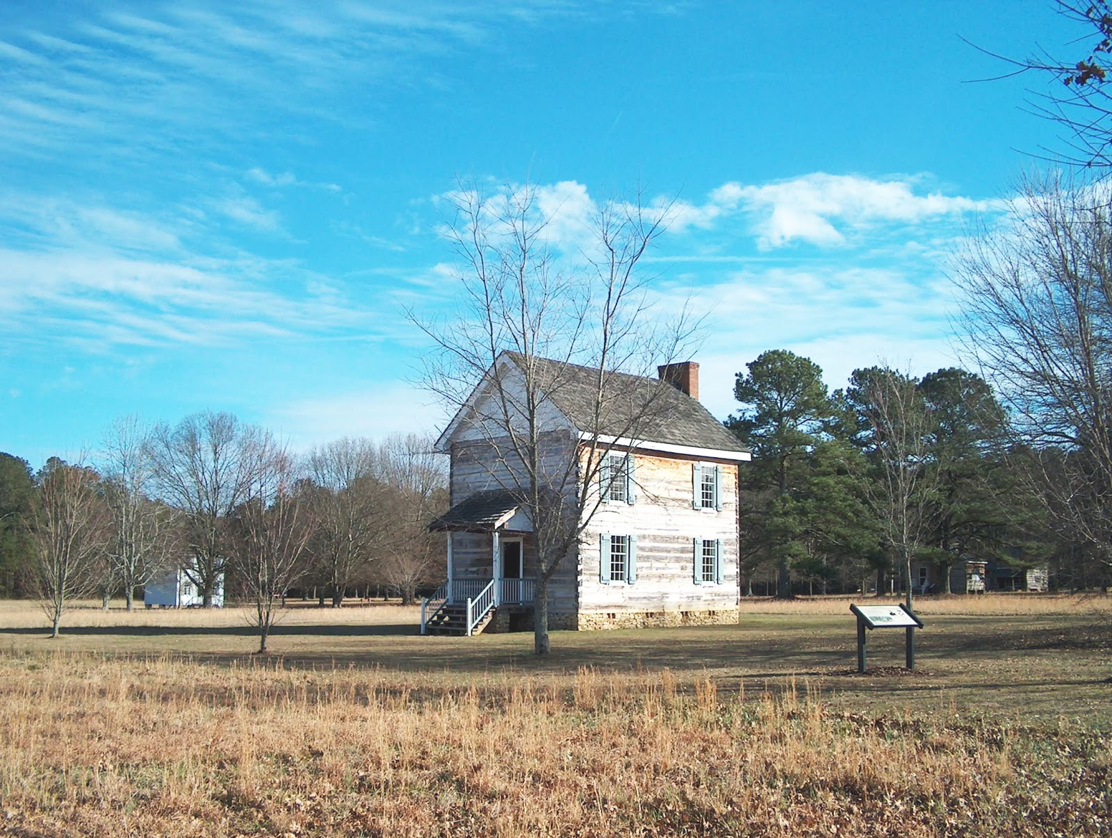 """Reconstructed buildings at the current historical site of New Echota, capital of the Cherokee Nation prior to their forced removal. """"New Echota"""" by Cculber007 at en.wikipedia. Licensed under CC BY-SA 3.0 via Wikimedia Commons."""