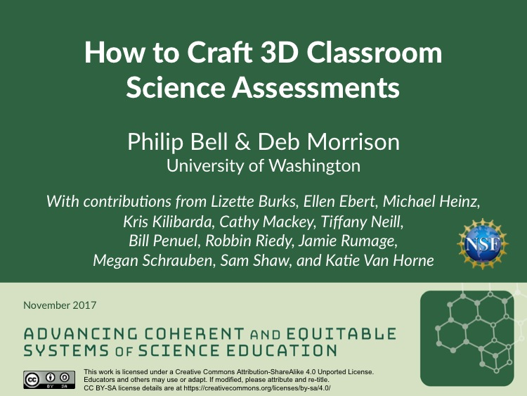 How to Craft 3D Classroom Science Assessments
