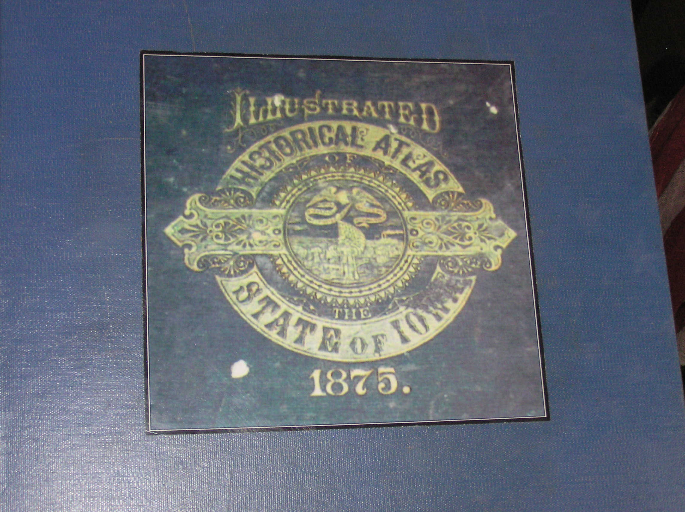 Books atlas Andreas 1875 first atlas of the State of Iowa front cover