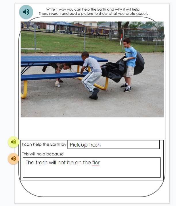 Another of Author, M.Moore's student response scaffold in Google Slides