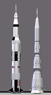 Photo of Saturn V and N1