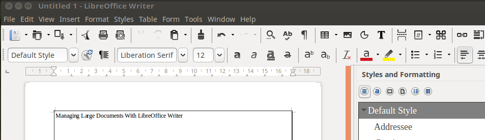 Managing Large Documents With Libreoffice Writer Oer Commons