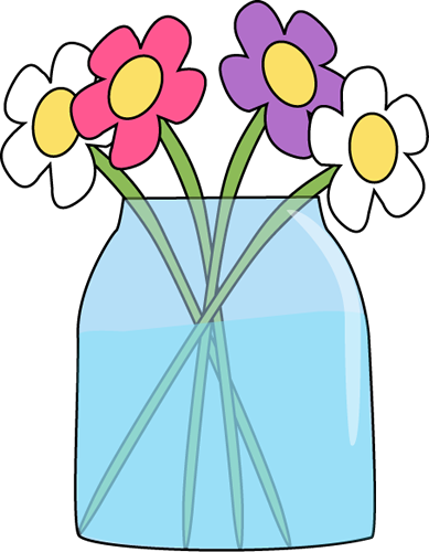 flowers in a jar