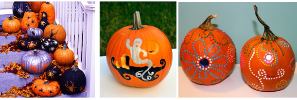 Painted Pumpkins examples