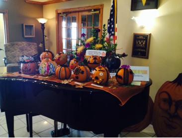 Finished Pumpkin Display