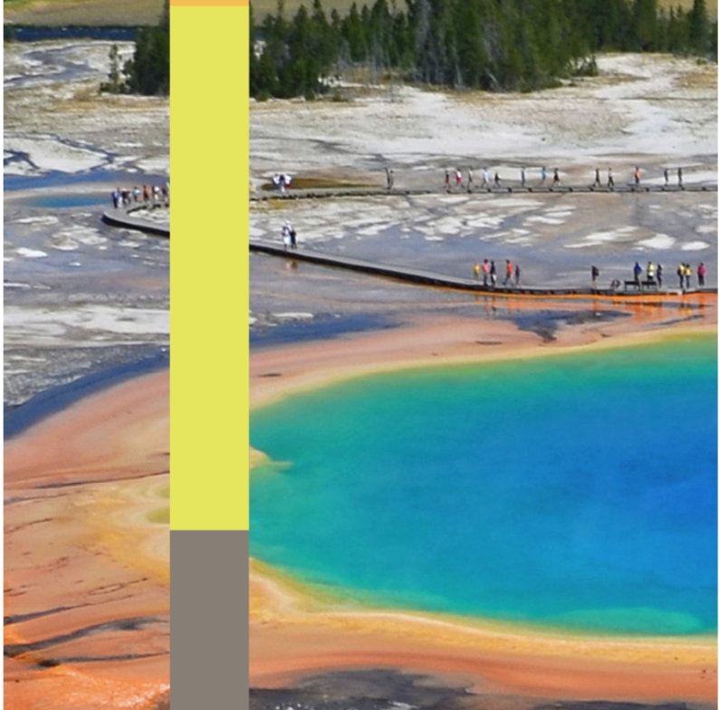 The Yellowstone National Park hot spring