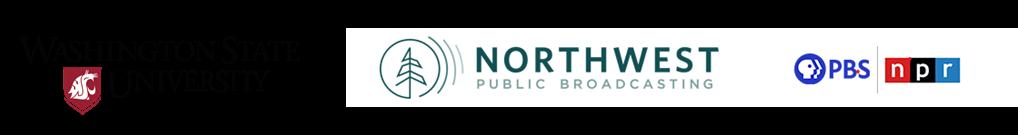 Washington State University and Northwest Public Broadcasting logos