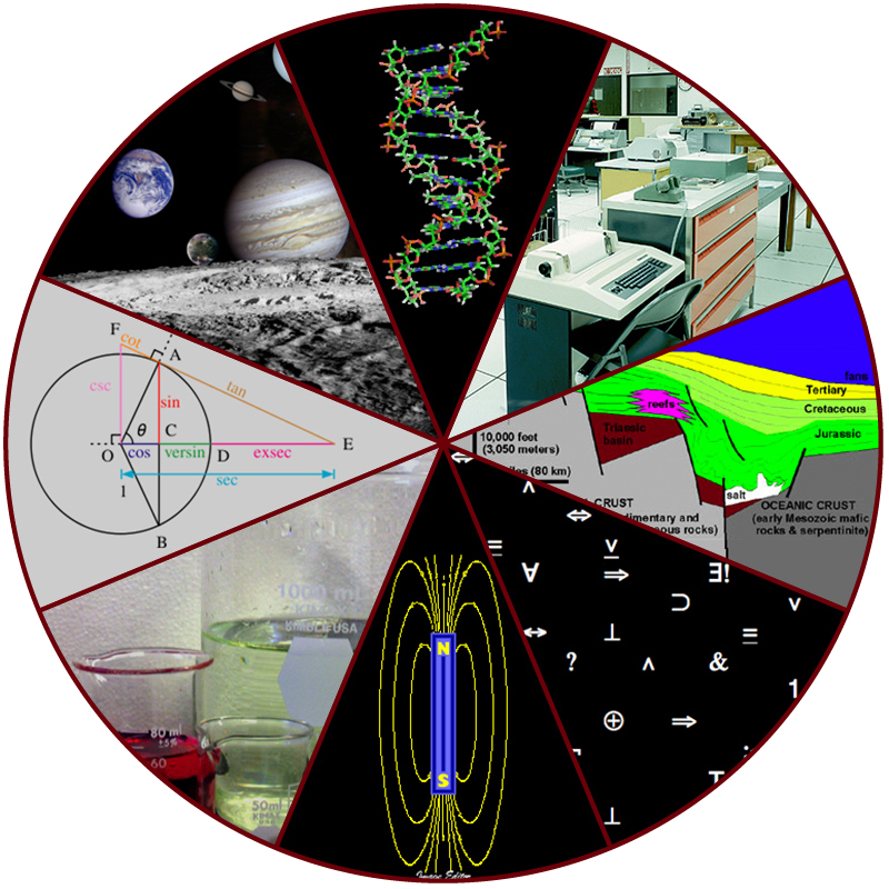 """Figure 1.4. The diversity of scientific fields includes astronomy, biology, computer science, geology, logic, physics, chemistry, mathematics, and many other fields. (credit: """"Image Editor""""/Flickr)"""