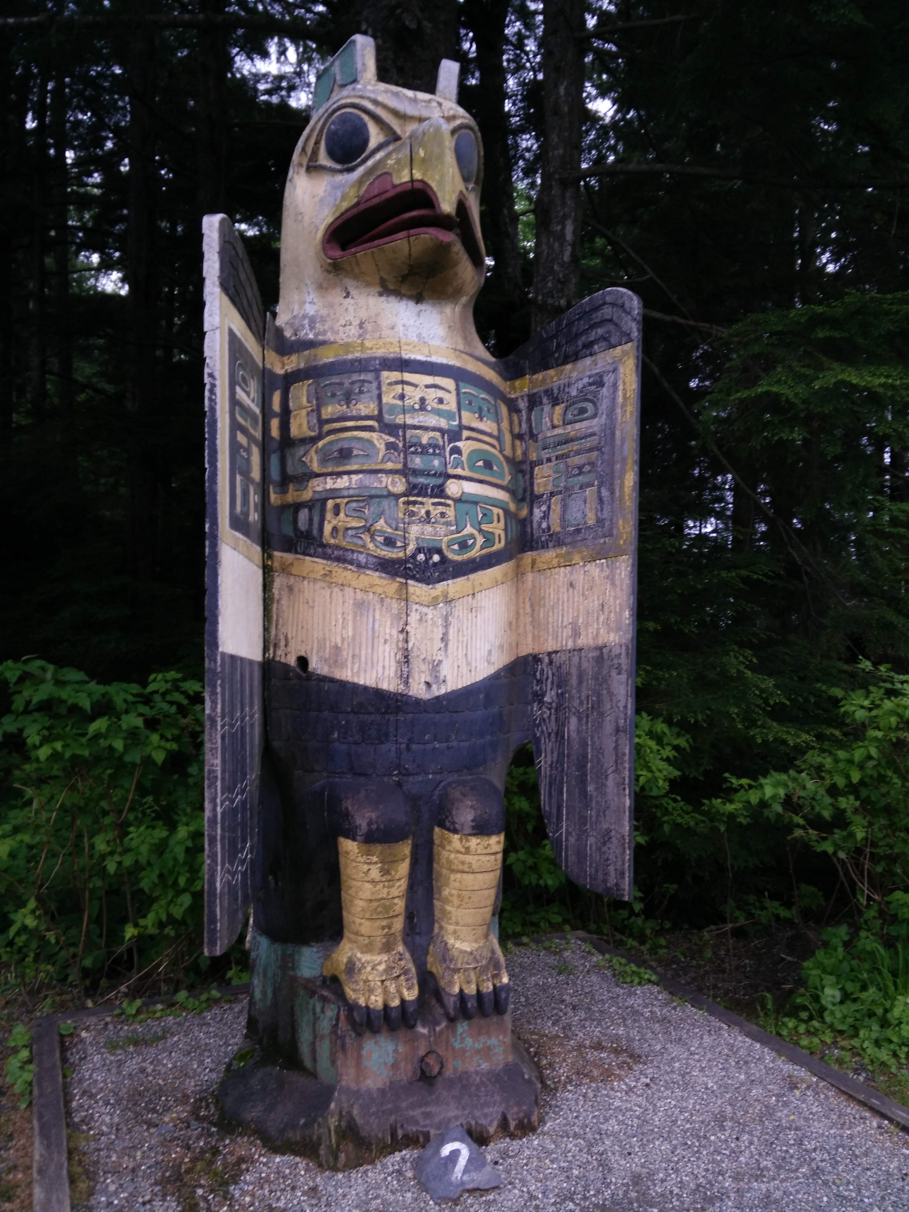 Eagle Totem, Totem Bight State Historical Park, Ketchikan Alaska. CC-BY Penny Pearson