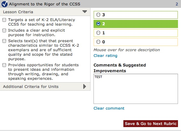 Alignment to the Rigor of the CCSS