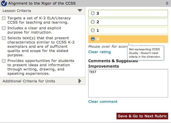 Saving a 0 in the Alignment to the Depth of the CCSS Dimension