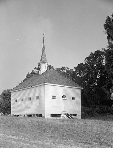 African American Baptist Church, Silver Hill Plantation, Georgetown County, South Carolina. By Frederick D. Nichols, Public Domain, via Wikimedia Commons