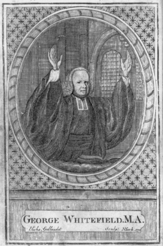 Portrait of George Whitefield by Elisha Gallaudet, Public Domain, via Wikimedia Commons
