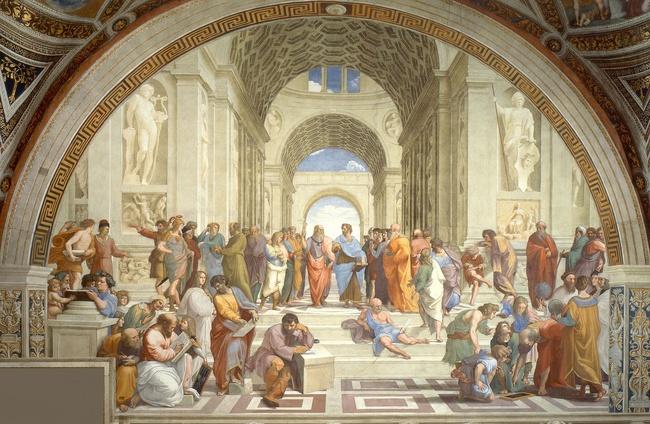 "Raphael's ""School of Athens"" [Public domain], via Wikimedia Commons"